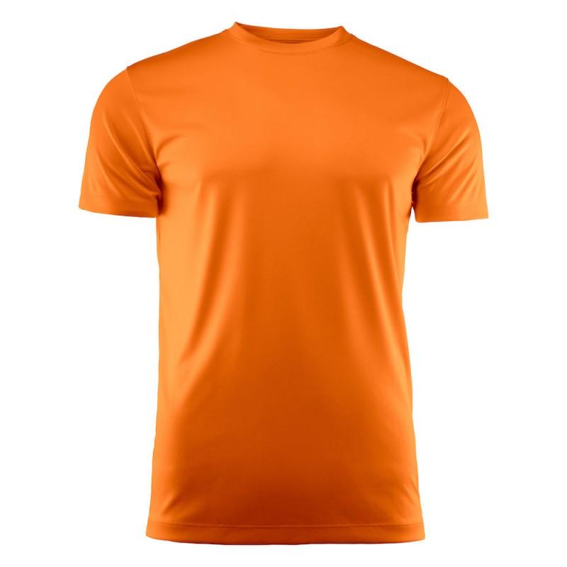 Tekninen t-paita fluorisoiva keltainen ja fluorisoiva oranssi